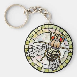 Drosophila Basic Round Button Key Ring
