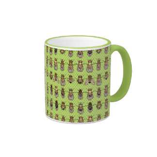 Drosophila Fruit Fly Genetics - mutants - Lime Ringer Mug
