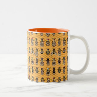 Drosophila Fruit Fly Genetics - mutants - Tangerin Two-Tone Coffee Mug