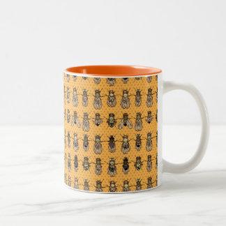 Drosophila Fruit Fly Genetics - mutants - Tangerin Two-Tone Mug