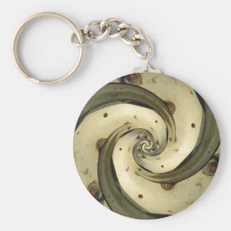 droste effect tractor wheel key ring