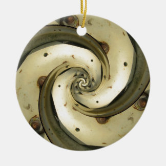 droste effect tractor wheel round ceramic decoration