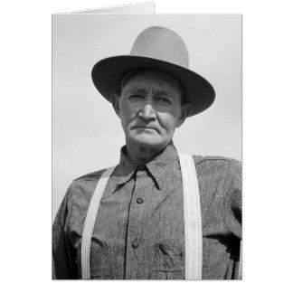 Drought area farmer – 1939. greeting card