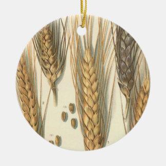 Drought Resistant Wheat Plant, Vintage Agriculture Christmas Ornament