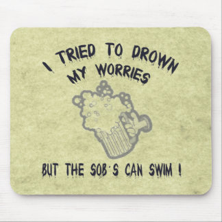 Drowned Worries Mouse Pad