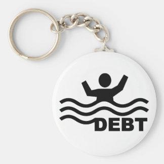 Drowning in Debt Key Ring