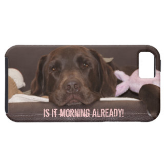 Drowsy Chocolate Lab Photo Close Up Tough iPhone 5 Case