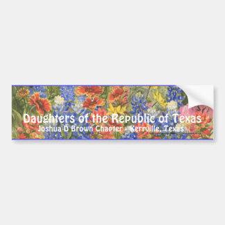 DRT TexasWildflower Bumpersticker Bumper Sticker