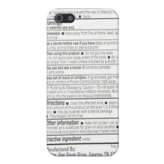 Drug Facts iPhone 5/5S Cover