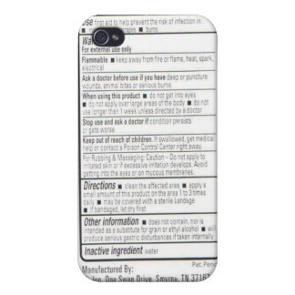 Drug Facts iPhone 4 Cover