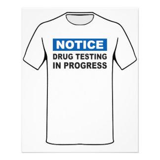 Drug Testing in Progress 11.5 Cm X 14 Cm Flyer