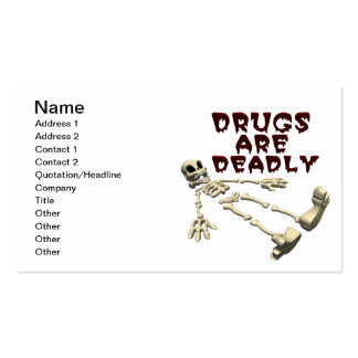 Drugs Are Deadly Pack Of Standard Business Cards