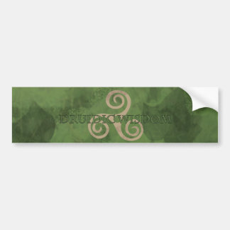 druidic wisdom stikers bumper sticker