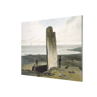 Druidical Stone at Strather near Barvas, Isle of L Canvas Print