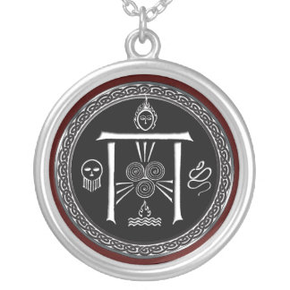 Druid's Gate Talisman Silver Plated Necklace