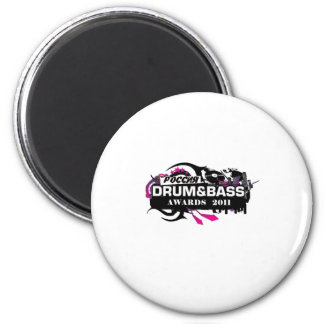 Drum and Bass 6 Cm Round Magnet