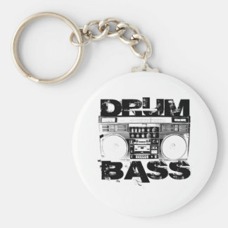 Drum and Bass Basic Round Button Key Ring