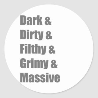 Drum and Bass DnB Electro Dub step Dubstep Grime Classic Round Sticker