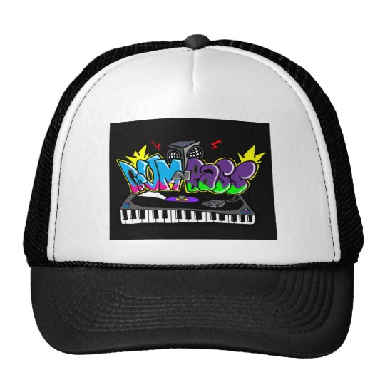 Drum and Bass Graffiti Cap