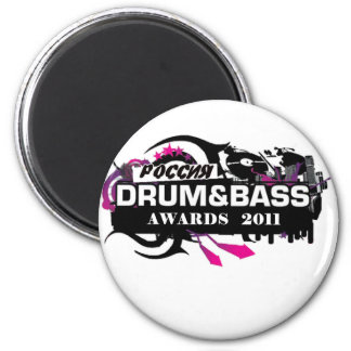 Drum and Bass Refrigerator Magnet