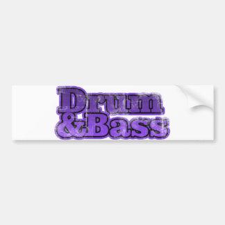 Drum and Bass Purple Bumper Sticker