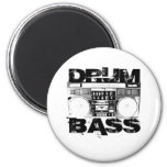 Drum and Bass Refrigerator Magnets