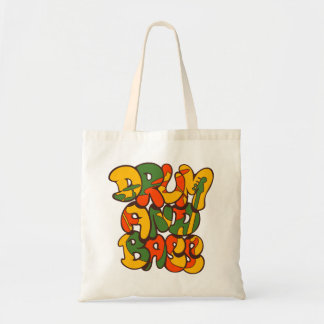 drum and bass reggae color - logo, graffiti, sign tote bag