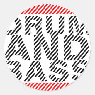 Drum and Bass Round Sticker