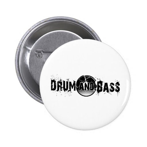 Drum and Bass Shattered Record Pin