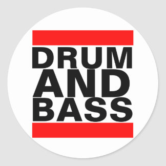 Drum and Bass Classic Round Sticker