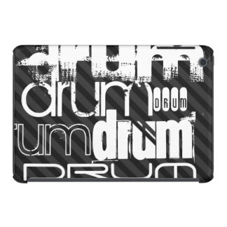 Drum; Black & Dark Gray Stripes iPad Mini Cases