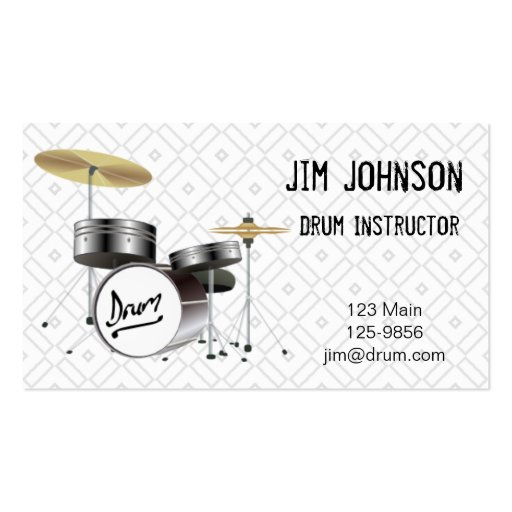 Online drummer business cards bizcardstudiocouk for Drummer business cards