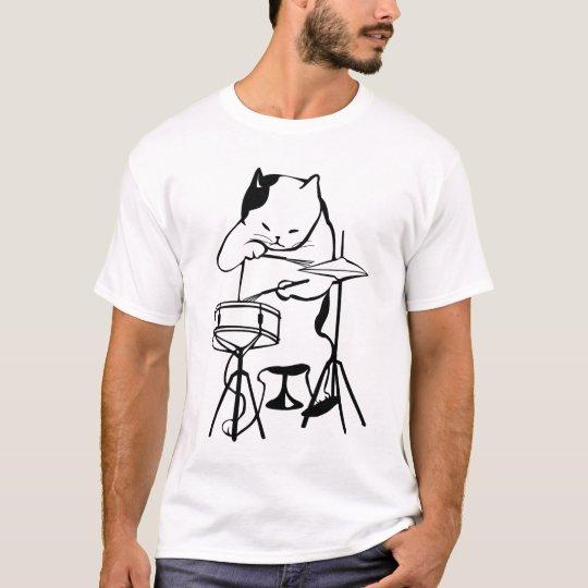 DRUM, Cat DRUMMER t-shirts