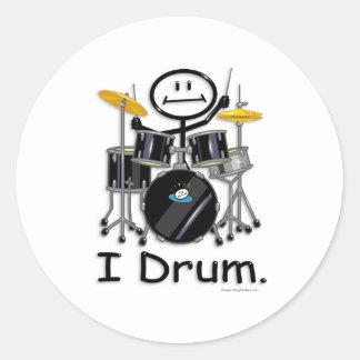 Drum Classic Round Sticker