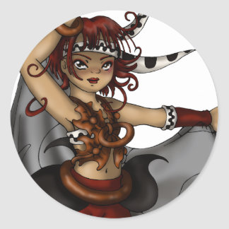 Drum Dance Classic Round Sticker