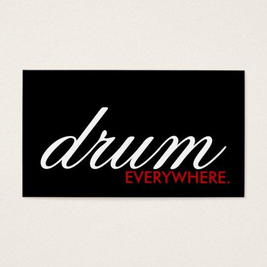 DRUM everywhere. (colour customisable) Business Card