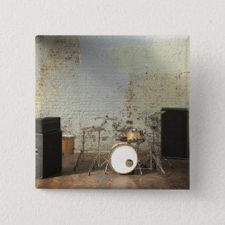 Drum Kit 15 Cm Square Badge