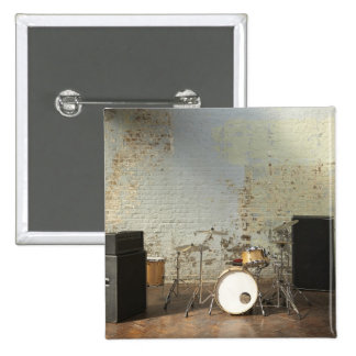 Drum Kit 15 Cm Square Badge