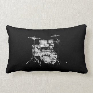 drum kit black&white decor lumbar cushion