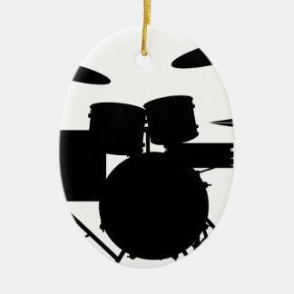 Drum Kit Ceramic Oval Decoration