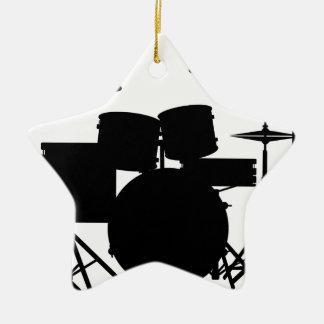 Drum Kit Ceramic Star Decoration