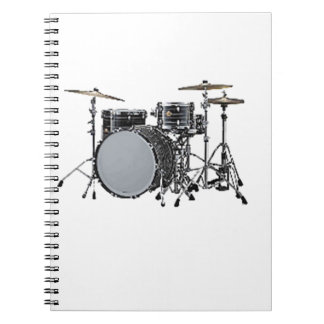 """Drum kit"" design gifts and products Spiral Notebook"