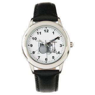 """""""Drum kit"""" design wrist watches"""