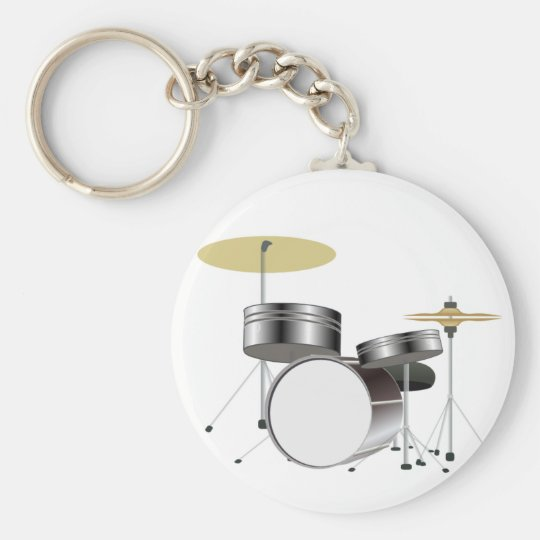 Drum Kit Drummer Key Chain