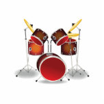Drum Kit Photo Sculpture Magnet