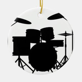 Drum Kit Round Ceramic Decoration