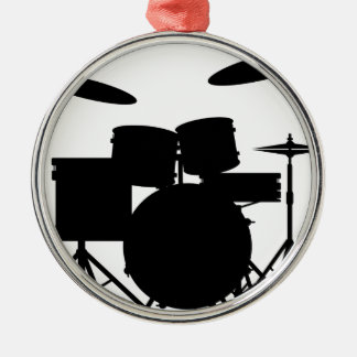Drum Kit Silver-Colored Round Decoration