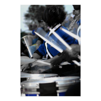 Drum Line Colorized Poster