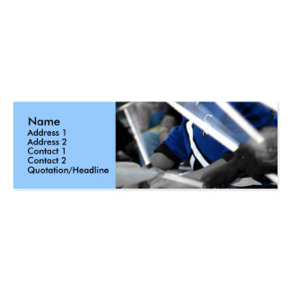 Drum Line Colourized Profile Card Business Cards