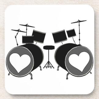 Drum Love Beverage Coasters